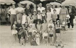 CARTE PHOTO  GROUPE ENFANTS AU POULIGUEN 1932 - Le Pouliguen