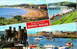 Divers    7     4 Views , Greetings From North Wales - Pays De Galles