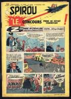 """SPIROU N° 1126 -  Année 1959 -  Couverture """" SPIROU Et FANTASIO """" De FRANQUIN Et JIDEHEM . - Spirou Magazine"""