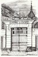 1971 - Cuivre Original De Danièle Fuchs - Versailles - La Caserne Des Coches - FRANCO DE PORT - Estampes & Gravures