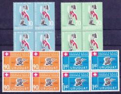 URUGUAY - 1962 - Nrs MI : 936, 937, 938 Et/en 939 (x 4) - COLONIA SUIZA - Nuovo/ongebruikt/neufs/unused - ** - Uruguay