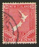 NUOVA ZELANDA New Zealand - 1923 - Geographic Map 1d - 1907-1947 Dominion