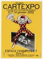 Salon Cartexpo 2012 Paris Arlequin Espace Champerret état Superbe - Borse E Saloni Del Collezionismo