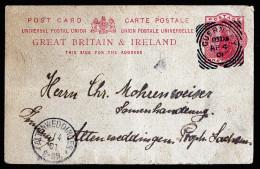 A3530) UK Guernsey Postcard From Guernsey 04/04/1901 To Altenweddingen / Germany - Guernsey