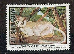 (cl. 4 - P.32) Somalie ** N° 210 (ref. Michel Au Dos)  Primate : Le Galago - - Somalie (1960-...)