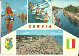 Cervia -- 2 Cartes.     ( 2 Scans ) - Italie