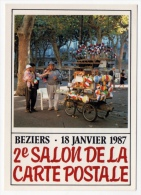 Béziers Salon Cp 1987 Marchand Ballons Père La Bulle état Superbe - Borse E Saloni Del Collezionismo