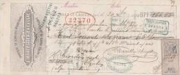 Lettre Change 30/12/1876 MARCELLIER CHEYSSAC Serrures  ST BONNET Le CHATEAU Loire Pour Menton - Timbre Fiscal Oudiné - Lettres De Change