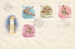 OLYMPISCHE SPIELE-OLYMPIC GAMES, HUNGARY, 1956, FDC / Special Postmark !! - Estate 1956: Melbourne