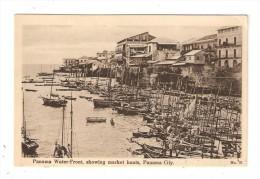 CPA PANAMA Water Front Showing Market Boats - Port - Marché Des Bateaux - Peu Commune - Panama
