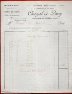 FACTURE 42 SAIL-Sous-COUZAN Loire - CHAZAL & DURY - Scierie Mécanique - Commerce De Bois - Charpente Parquet - France
