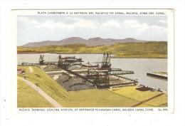 CPA PANAMA Pacific Terminal Coaling Station At Entrance To Panama Canal Balboa Canal Zone - Panama