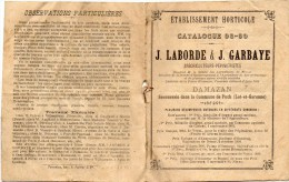 DAMAZAN )  Carnet Horticole- 1908_1909-5 PAGES RECTO VERSO TOUT FRUIT, LEGUMES , CATEGORIE  PEU COMMUN - F. Trees & Shrub