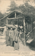 ASIE - LAOS - Pont Tonkinois Et Types De Femmes Du Laos - Exposition Coloniale 1907 - Laos