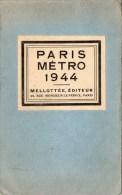 510Bf   Plan Cartonné 2 Volets Du Metro Paris En 1944 - Europa