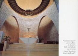 Abano Terme, PD - Santino Cartolina ALTARE Opera Di P. COSTANTINO RUGGERI, Chiesa  Sacro Cuore Alle Terme - PERFETTO L68 - Religione & Esoterismo