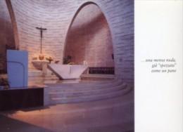 Abano Terme, PD - Santino Cartolina Chiesa Sacro Cuore Alle Terme Progetto Dell'Arch. GIULIO BRUNETTA - PERFETTO L68 - Religione & Esoterismo
