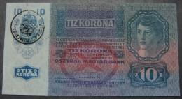 RARE ROMANIA 10 KRONEN ND 1919 (1915) PICK - R2-11, UNC. HARD TO FIND QUALITY. - Roemenië
