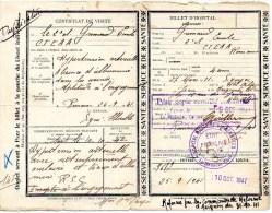 510Bf   Lot De 2 Documents Certificat De Visite Hopital Et Commission Reforme Avignon Militaire Engagé Gap - 1939-45