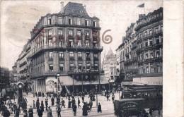 Bruxelles - Grand Café Et Hotel Central - Place De La Bourse - 2 SCANS - Cafés, Hôtels, Restaurants