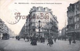Bruxelles - Place Fontainas Et Boulevard Auspach Anspach - 2 SCANS - Avenues, Boulevards