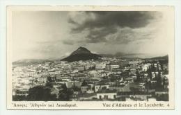 ATENE VUE D'ATHENES ET LE LYCABETTE NON VIAGGIATA F.P. - Grecia