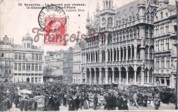 Bruxelles - Le Marché Aux Oiseaux Le Dimanche à La Grande Grand'Place - 2 SCANS - Marchés