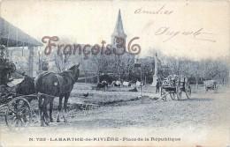 Labarthe De Rivière - Place De La République - Attelage Carrosse - 2 SCANS - Other Municipalities