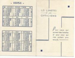 CALENDRIER DE POCHE 1958 - LES LUNETTES ET LES OPTICIENS - Calendriers