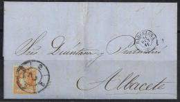 ESPAÑA 1864- Carta Completa Circulada - 1850-68 Royaume: Isabelle II