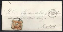 ESPAÑA 1864- Envueltas Barcelona A Madrid - 1850-68 Regno: Isabella II