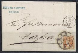 ESPAÑA 1864- Envueltas Madrid A Zafra - 1850-68 Regno: Isabella II