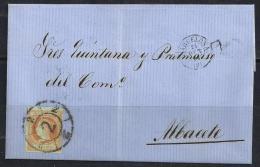 ESPAÑA 1864- Envueltas Barcelona A Albacete - 1850-68 Regno: Isabella II