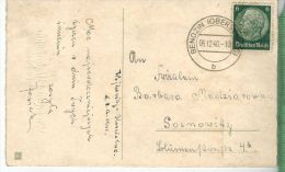 MOTIV Judaicum Polen 1940, BENDZIN In Oberschlesiengelaufene Farbige Glückwunschkarte Zum Namenstage Inpolnischer Sprach - Schlesien