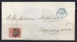 ESPAÑA 1857- Envueltas Barcelona A Zaragoza - 1850-68 Reino: Isabel II