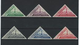 EC - 1936 - 363-368 -  MH - MIT FALZSPUREN - CON SEÑAL DE FIJASELLO - * - Equateur