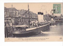 """25194 Fance DIEPPE - Le Paquebot """" Newhaven """" Au Moment Du Départ Steamer - ND 472 Vapeur"""
