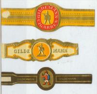 3 Alte Zigarrenbanderolen - Bauchbinden Der Zigarrenmarke: Gildemann - Bagues De Cigares