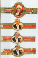 4 Alte Zigarrenbanderolen - Bauchbinden Der Zigarrenmarke: Handelshof - Bagues De Cigares