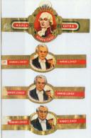 5 Alte Zigarrenbanderolen - Bauchbinden Der Zigarrenmarke: Honor Urbis - Bauchbinden (Zigarrenringe)