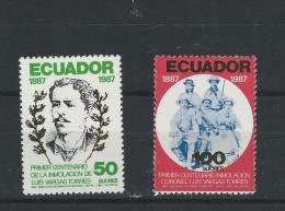 EC - 1988 - 2061-2062 - SATZ -SET - LUIS VARGAS TORRES  - POSTFRISCH - MNH -  ** - Equateur