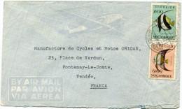 MOZAMBIQUE LETTRE PAR AVION DEPART LOURENCO MARQUES 3-10-52 POUR LA FRANCE - Mozambique