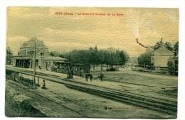 CPA  61  :   SEES  La Gare Avec Train     A   VOIR   !!!! - Sees