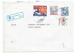 Yugoslavia,Slovenia,Macedonia 1990 - RED CROSS 1990 AS ADDITIONAL.R - Letter Ljubljana - 1945-1992 République Fédérative Populaire De Yougoslavie