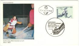 AUSTRIA - ÖSTERREICH - AUTRICHE - 1967 - EISHOCKEY-ICE HOCKEY-HOCKEY SUR GLACE-HOCKEY SU GHIACCIO - WIEN - FDC - Hockey (su Ghiaccio)