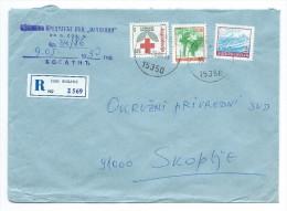 Yugoslavia,Serbia,Macedonia 1990 - RED CROSS 1990 AS ADDITIONAL.R - Letter Bogatic - 1945-1992 République Fédérative Populaire De Yougoslavie