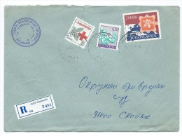 Yugoslavia,Serbia,Macedonia 1990 - RED CROSS 1990 AS ADDITIONAL.R - Letter Vladimirci - 1945-1992 République Fédérative Populaire De Yougoslavie