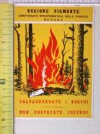 Cart.-   Regione Piemonte - Ispettorato Ripartimrntale Delle Foreste - NOVARA. Salvaguardare I Boschi. - Non Classificati