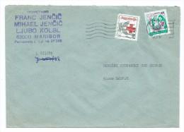 Yugoslavia,Slovenia,Macedonia 1990 - RED CROSS 1990 AS ADDITIONAL.R - Letter Maribor - 1945-1992 République Fédérative Populaire De Yougoslavie