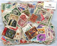 Lot 1000 Timbres Europe Ouest - Vrac (max 999 Timbres)
